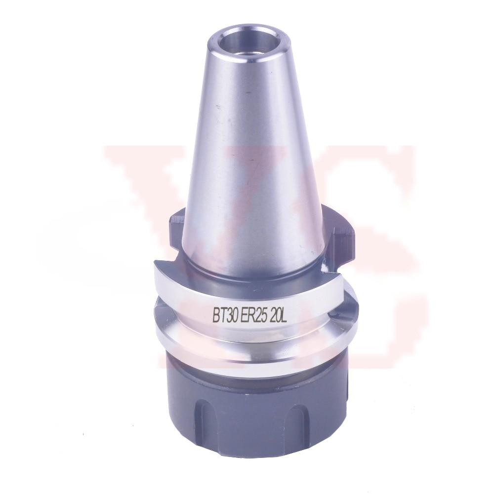 Promotion BT30 ER25 20L Shorter Collet Chuck holder CNC Milling and lathe toolholder taller and shorter