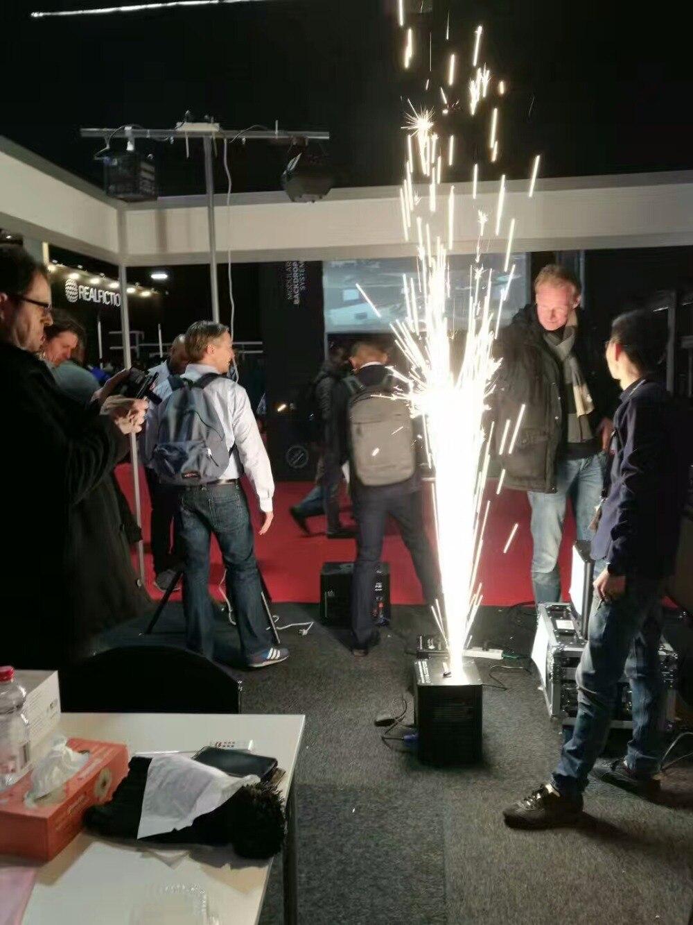500w elétrica sparkler chama fogo máquina sparkler 2m altura especial coldfireworks dmx 512