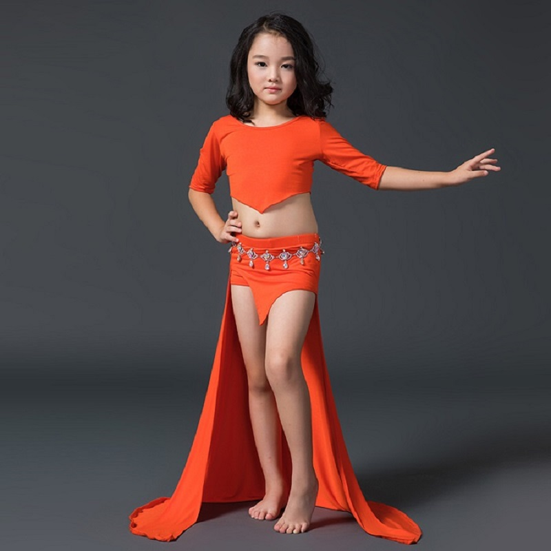 New Sexy Indian Children Belly Dance Performance Costume -5972