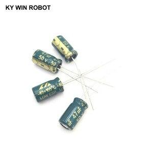 Image 2 - 50 ピース/ロット 50 ボルト 47 uf 6 × 12 ミリメートル高周波低インピーダンスアルミ電解コンデンサ 47 uf 50 ボルト