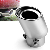 Universal New Stainless Steel Car Rear Round Exhaust Pipe Tail Muffler Car Accessories Free Shipping