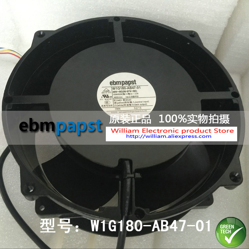 New Original EBM PAPST W1G180-AB47-01 48V 100W 200*70MM Inverter cooling fan new original ebm papst 9906l 9906 l ac 115v 120ma 100ma 9w 8w 120x120x25mm axial cooling fan
