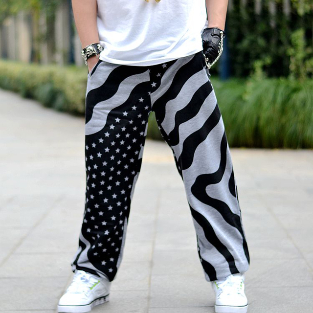 2017 New Fashion Harem Pants Mens Joggers  Gymshark Printed Loose  Men Pants Hip Hop Sweatpants plus size 3xl