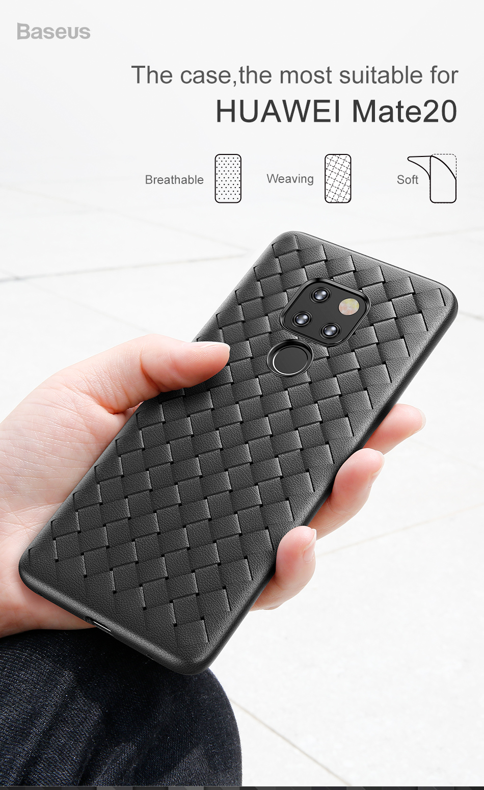 Weaving Grid Pattern Silicone Case For Huawei Mate 20 20 Pro_01