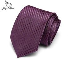 New Design 100% Silk Men Tie 7.5cm Striped Paisley Classic Business Neck For Suit Wedding Party Necktie Factory Sale