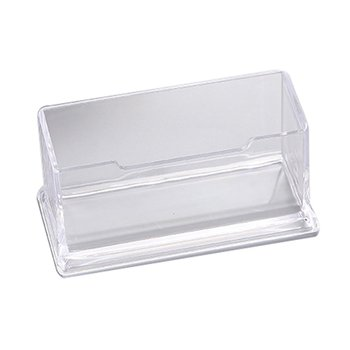 Business Card Holder Display Stand Desk Desktop Countertop Business Card Holder Desk Shelf Box With Pen Holder image