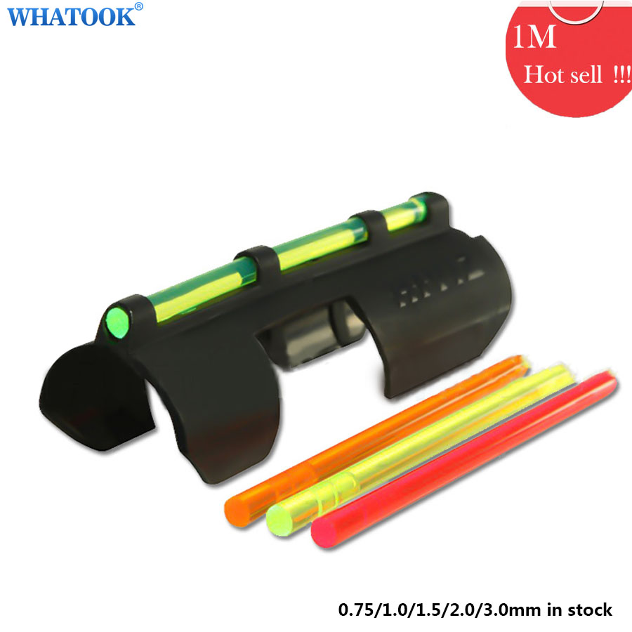 1m LED Fibre optical lights 1.5/0.75/1.0/1.5/2.0/3.0MM for Gun Aiming Shutting Fluorescent Optic Cable PMMA Neno Lights Decor