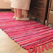 Alfombra tejida a mano, alfombra Vintage, Alfombra tejida a mano, alfombras de colores, cojín para meditación, sala de estar, alfombra moderna india a rayas