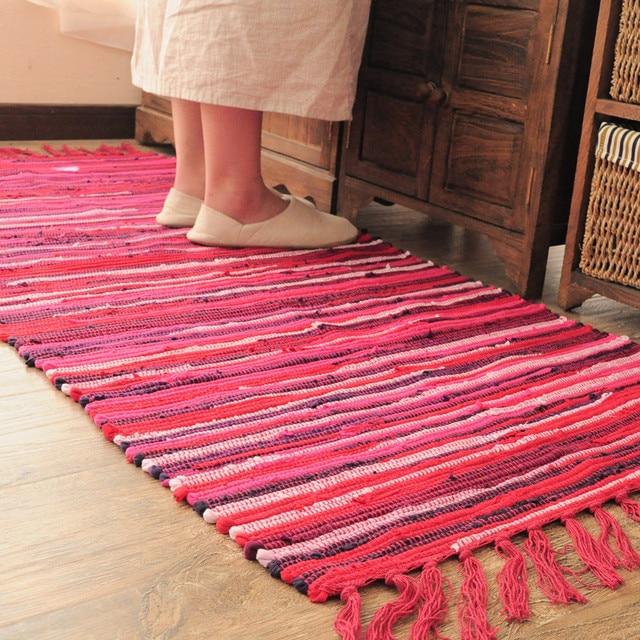 Kilim Solid 100% Cotton Bathroom Living room Carpet Geometric Indian ...