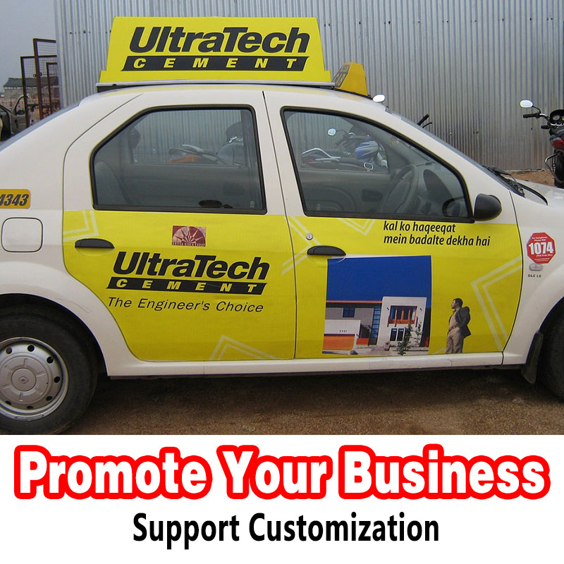Vinyl Die Cut Transparent Private Car Taxi Car Door Advertising Customized Stickers Wrap Promotion Your Business Anywhere(China)