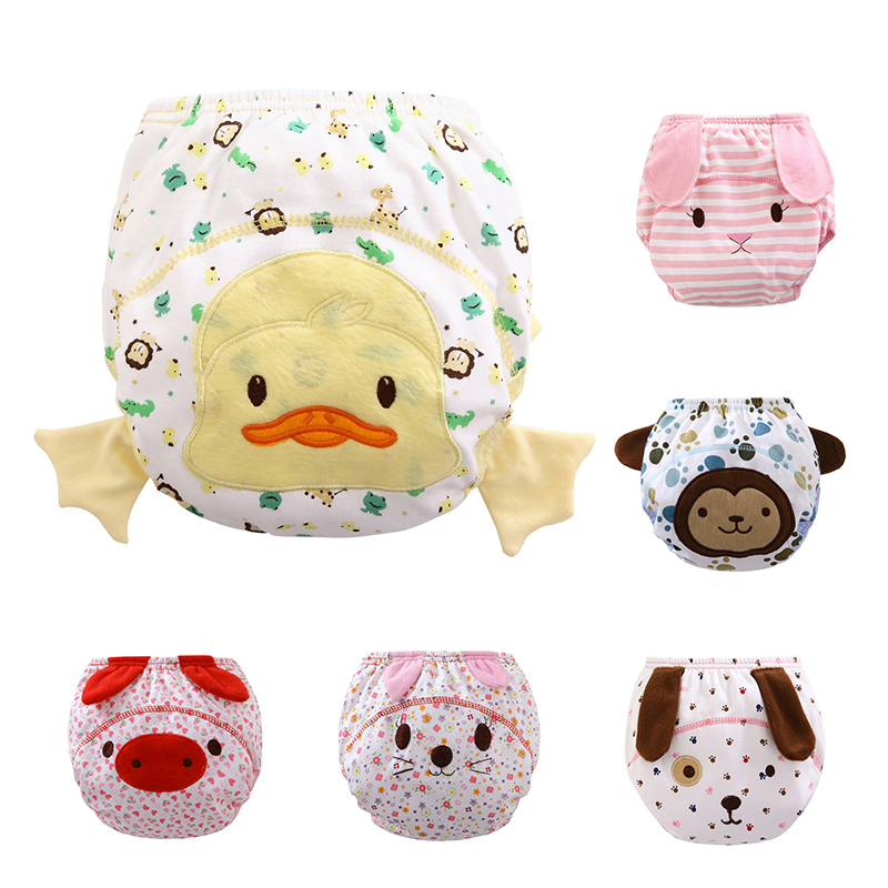 Lovely Baby/Infant Cotton Waterproof Reusable Nappy Diaper Cute Training Pants Briefs Underwear Washable Fraldas Reutilizaveis