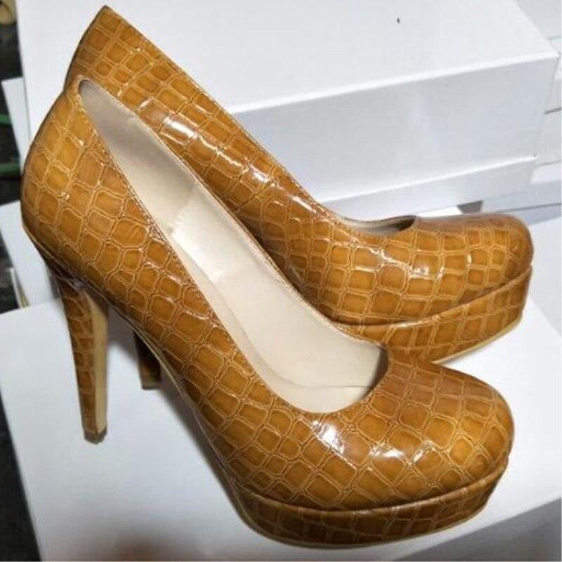 c989db02d989a Shofoo chaussures. style Élégant livraison gratuite, beige PU tissu, 12.5  cm talons hauts, bout rond pompes, chaussures de femmes.