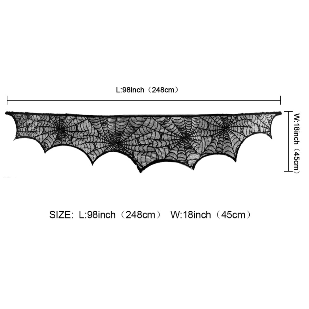 Ourwarm Halloween Party Supplies Fireplace Mantle Scarf Cover