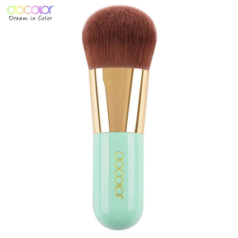 Best Foundation Brush Pink and Green Makeup Brush with Box Fast Make up Brushes Beauty Essential Makeup Tools 1