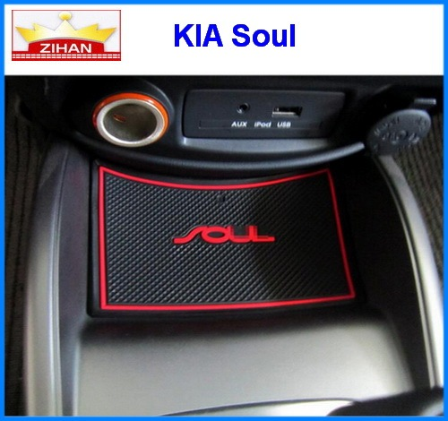 car accessories for kia soul anti slip sticker gate slot pad door mats carpet interior door cup. Black Bedroom Furniture Sets. Home Design Ideas