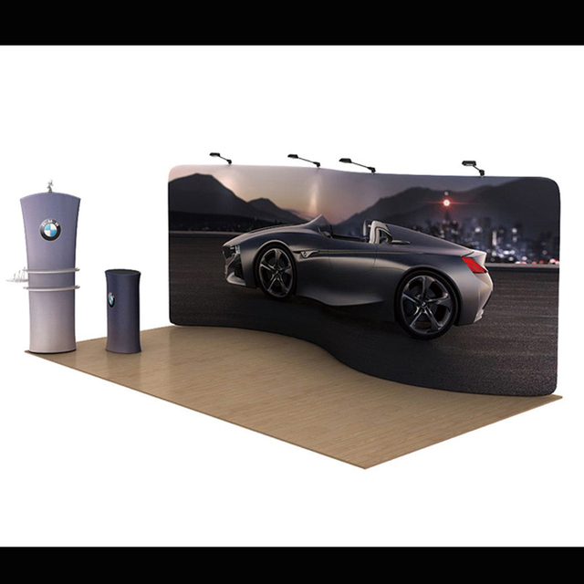 Aliexpresscom Buy Ft Custom S Shape Tension Fabric Trade Show - Car show display stand for sale