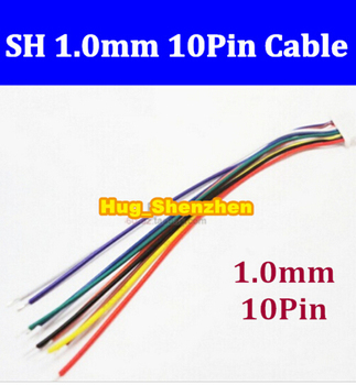 Hot Sale Customized High Quality Micro JST SH 1.0mm Pitch 10Pin Female Connector with Wire 100mm 10pin jst