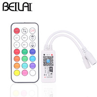 BEILAI DC 12V 24V WIFI RGBW LED Controller For IOS Android With RF 21Key Remote Control