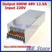 Led driver 600W 48V(0V 52.8V) 12.5A Single Output ac 220v to dc 48v Switching power supply unit for LED Strip light