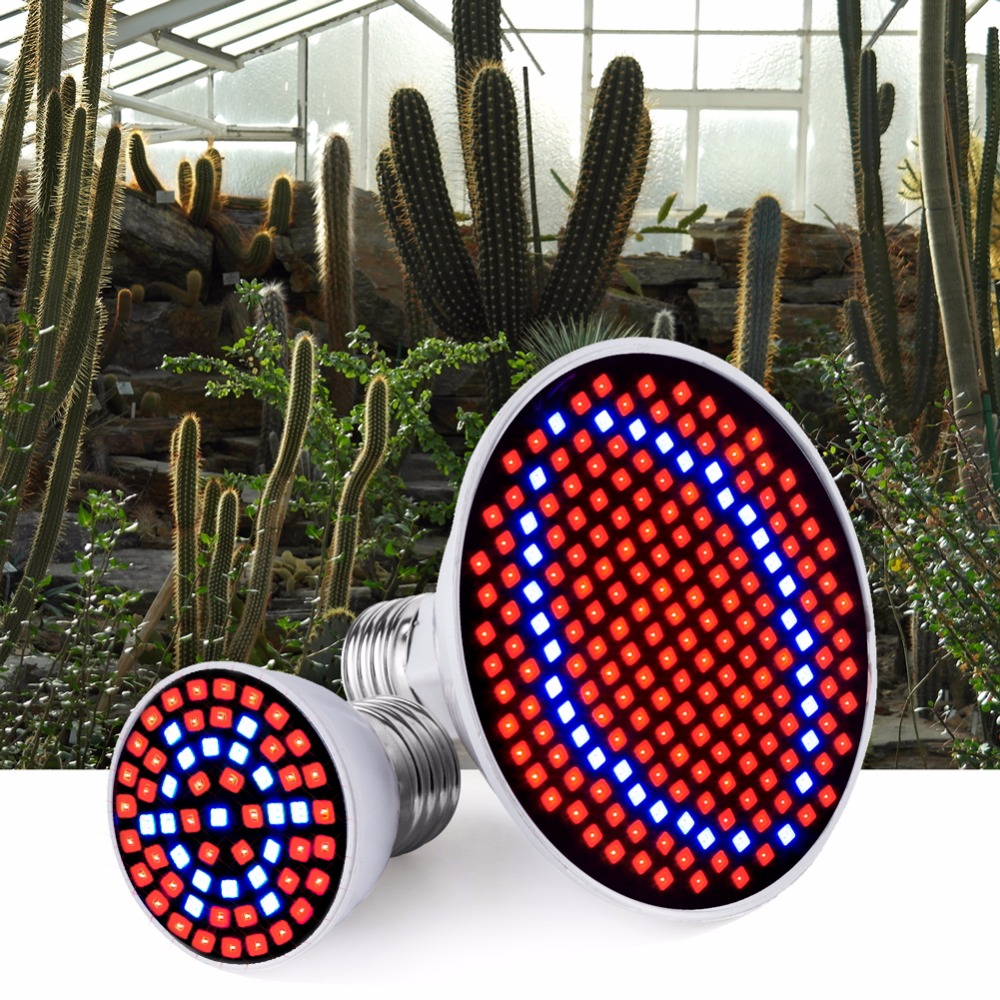 WENNI E27 LED Plant Growing Lamp E14 LED Grow Light Full Spectrum Bulb GU10 48 60 80 126 200leds Greenhouse MR16 Phyto Lamp B22