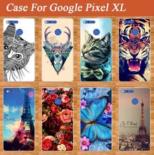 Popular Painting Case FOR Google Pixel XL Protect Skin Back Cover Various Flowers Stylish Case Cover For Google Pixel XL Holder(China)