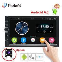 Podofo 7 Android 6 0 Car Radio Stereo GPS Navigation Bluetooth 2 Din Touch Screen Car