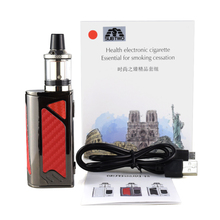 100w Box Mod Electronic Cigarette Vape Kit 2200mah Build-in Battery 3.5ml 0.3ohm Atomizer Tank E Vaper Pen Mech