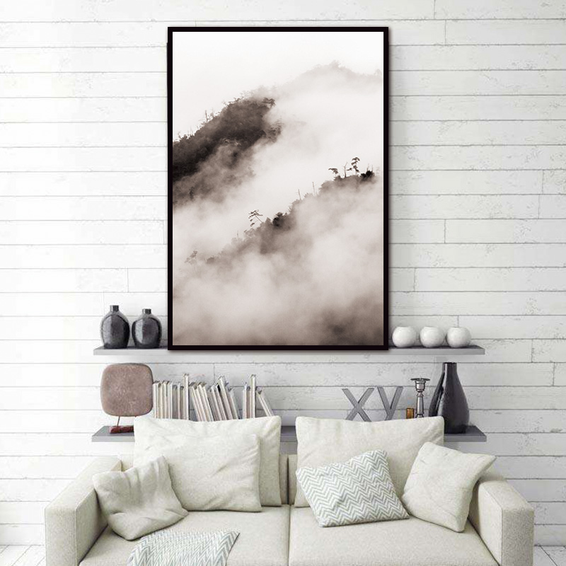 Nordic Living Room Art Decoration Pictures Mountain Natural Abstract Wall  Pictures Scandinavian Canvas Painting Prints No Frame In Painting U0026  Calligraphy ...