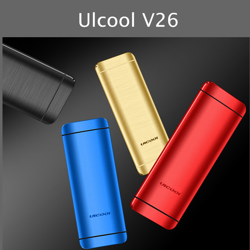 Оригинальный мобильный телефон Ulcool V26 с сенсорным дисплеем металлический корпус Bluetooth 2,0 Dialer Dual SIM Кредитная карта мобильный сотовый телефон