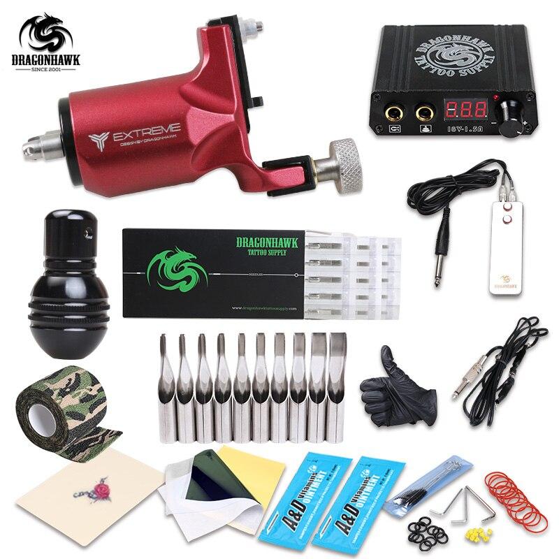 Novo Estilo de Tatuagem Rotativo Armas Kit Máquina de Forro E Shader Importados Conjuntos de Abastecimento de Tinta