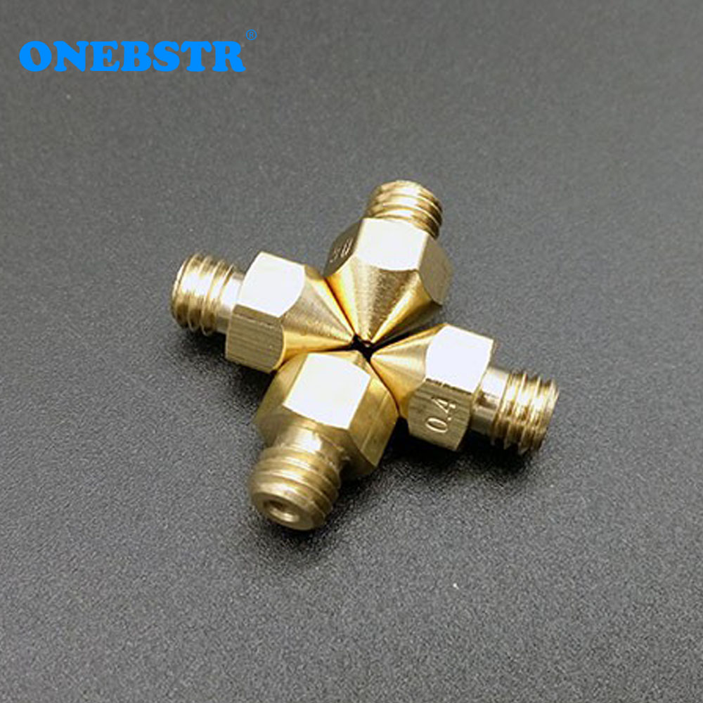 4Pcs/lot Makerbot MK8 Nozzle 0.2 0.3 0.4 0.5 For ABS PLA 1.75mm Supplies 3D Printer Parts Special Offer Free Shipping