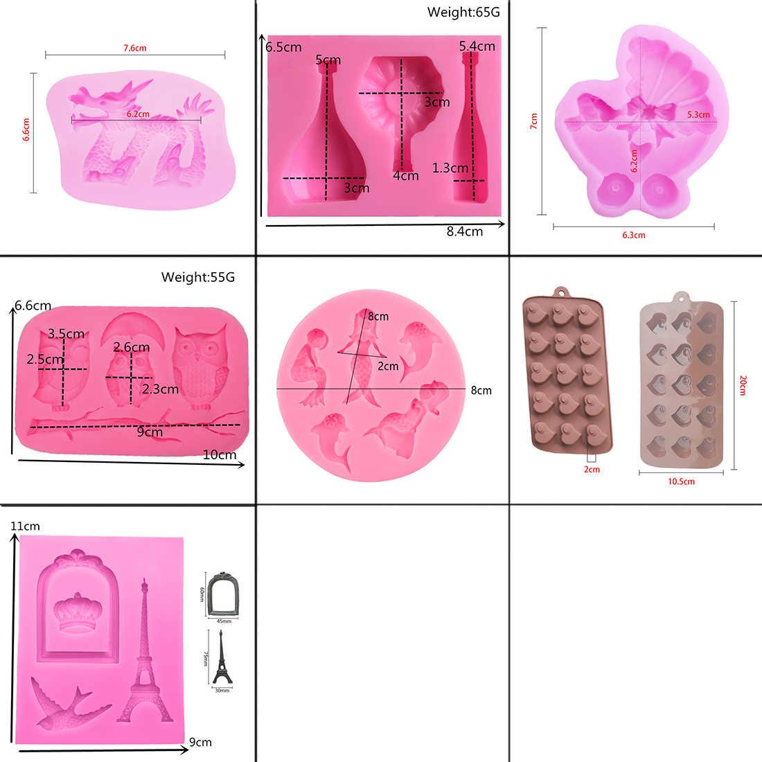Силиконовая форма, 1 шт., форма для выпечки, инструменты для украшения торта, форма русалки/шишки, форма для шоколада, форма для мыла, трафарет для торта, кухонный инструмент для выпечки