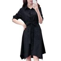 2018 Autumn Shirt Dress Women Long Sleeve Plus Size Dresses Brazil Camouflage Korean Bandage Dress Office Kleider Damen C0114E