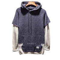 Cloudstyle 2018 New Brand Spring Autumn Fashion Mens Sweaters Hooded Casual Style Hand Knitted Pullovwers Plus