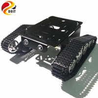 DOIT Rastreado Chassis Tanque Robô Chassis Do Carro Inteligente com 12 V 320 RPM Do Motor Liga de Alumínio Frame/Chassis para projeto da graduação DIY