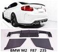 Für BMW F87 M2 Coupe 235 2014 2015 2016 2017 2018 Carbon Fiber Hinten Lip Spoiler Auto Diffusor Hohe Qualität auto Zubehör-in Stoßstangen aus Kraftfahrzeuge und Motorräder bei