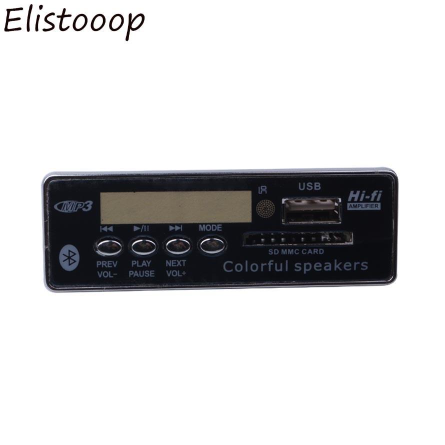 Elistooop Auto Usb Bluetooth Freisprecheinrichtung Mp3-player Integrierte Mp3 Decoder Board Modul Mit Fernbedienung Für Auto Sd Karte Exquisite Verarbeitung In