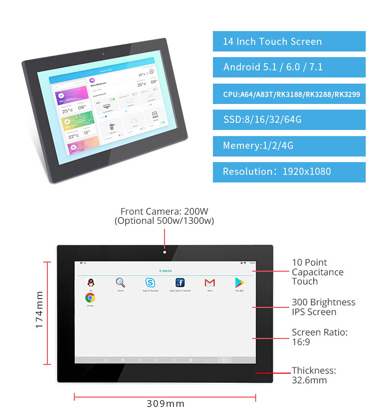 Tablet 13 Inch Android OS Shenzhen Tablet Manufacturer In China