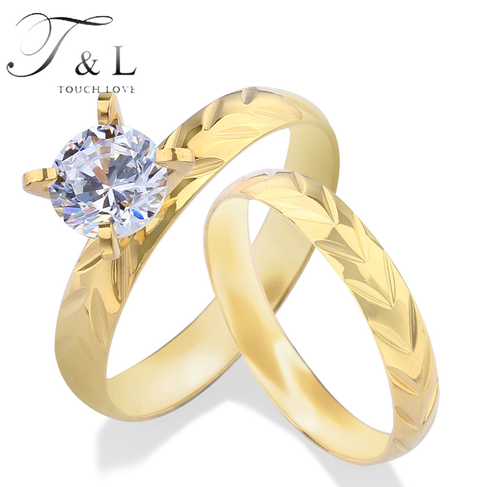 T&l Women Anniversary Wedding Steel Jewellery Rings, Cz Imitation Famous  Brand Stone Micro Pave Carved Antiallergies Rings