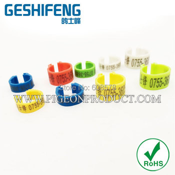 free shipping 2016 colorful Plastic Clip Ring for pigeon&bird open rings