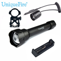 UniqueFire 1501 XML / XML 2 Tactical LED Flashlight Adjustable 5 Modes 10W LED Bulbs Torch+Scopw Mount+Rat Tail + Charger