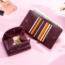 kavis genuine leather women wallet female small walet portomonee lady mini zipper money bag vallet coin purse card holder perse Genuine Leather Women Wallet Fashion Coin Purse For Girls Female Small Portomonee Lady Perse Money Bag Card Holder Mini Clutch