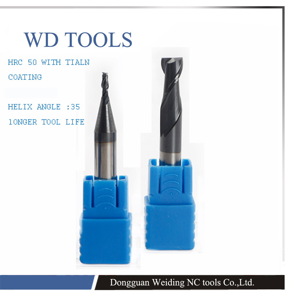 ФОТО free shipping 2 Flutes 9mm in mills Tungsten Steel Carbide Engraving Bits Sprial Cutters End Mills,Carving Tools Ma Bits