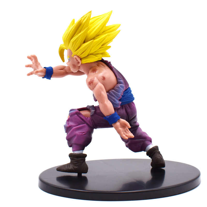 12cm dragon ball z figura dramática showcase super saiyan son goku gohan figuras de ação pvc brinquedos crianças brinquedos frete grátis