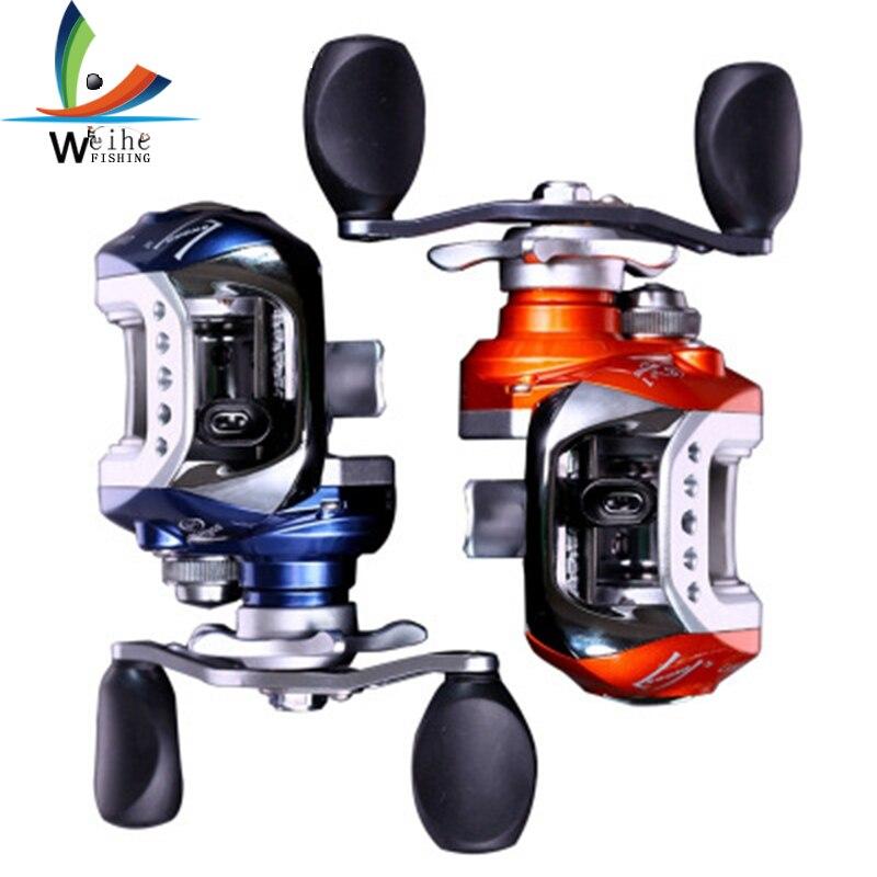 10 + 1BB gauche/droite main Baitcasting bobine 6.3: 1 appât coulée pêche bobine magnétique frein goutte d'eau roue bobine