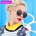 REEDOON Vintage Women Steampunk Sunglasses Brand Design Round Sunglasses Oculos de sol UV400 1607