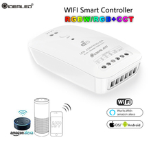 Home RGBW+CCT LED Controller led DC9V-24V Smartphone RGBW Led Strip APP Wifi combitible Amazon Echo Alexa Google