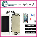 Test One by One Best Quality For iphone 5 5G LCD Display Screen+Touch Digitizer Glass Assembly Black Tested One by One