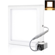 Led surface mounted panel light 6W12W 18W kitchen light ceiling square 2835SMD AC85-265V warm /cool white Free shipping free shipping led panel light 300 600mm 36w led ceiling light ac85 265v