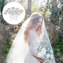 New Fashion Bride Hair Combs Wedding Dress Accessories Women Crystal Head Piece Hair Ornaments(China)